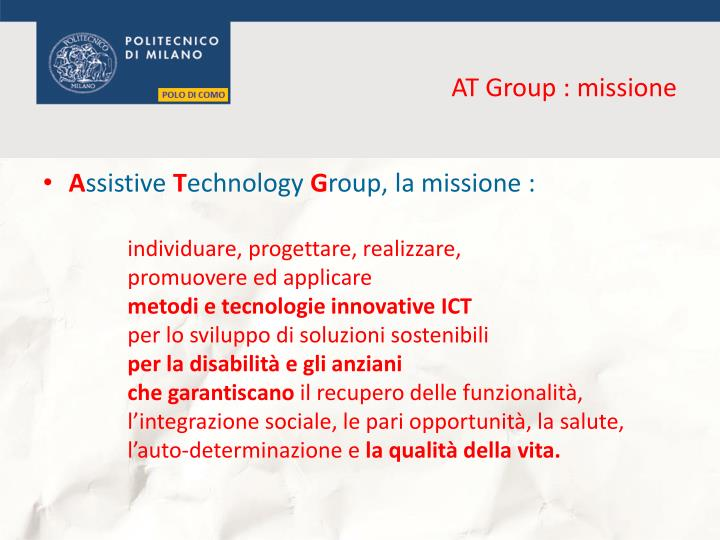 At group missione
