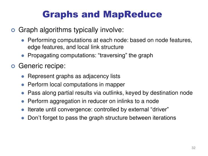 Graphs and MapReduce
