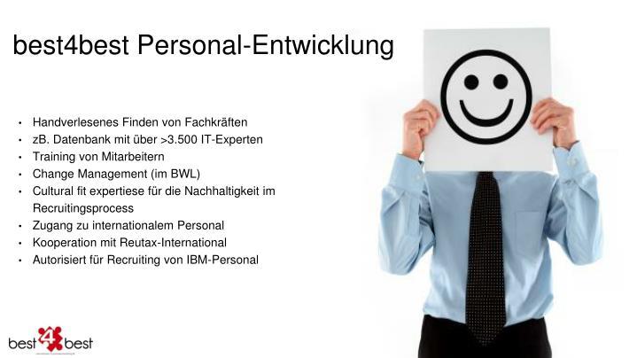 best4best Personal-Entwicklung