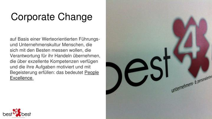 Corporate Change
