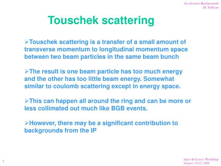 Touschek scattering