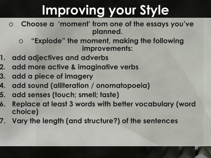 Improving your Style
