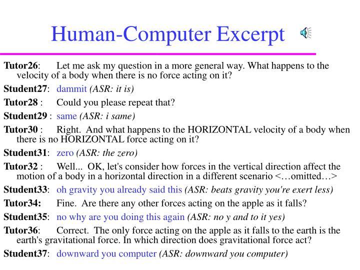 Human-Computer Excerpt