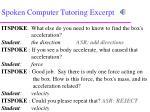 spoken computer tutoring excerpt