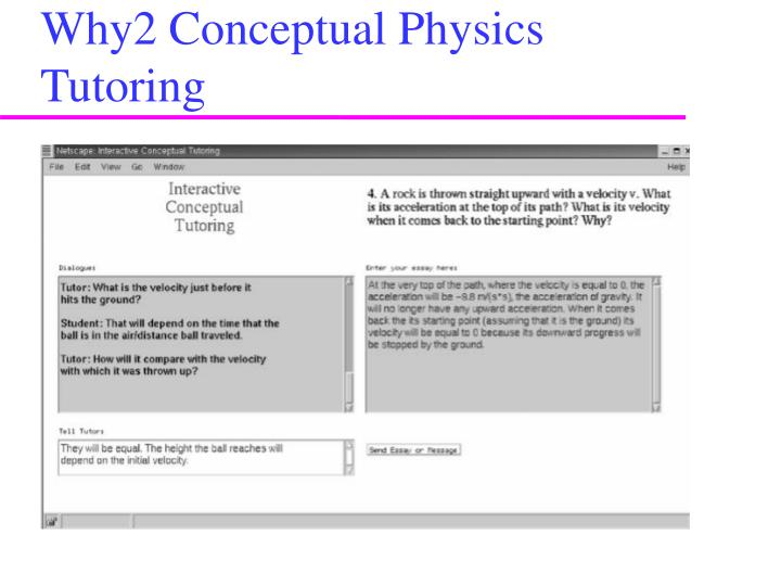 Why2 Conceptual Physics Tutoring