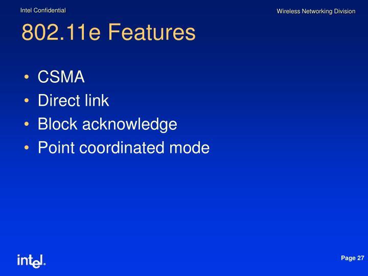 802.11e Features