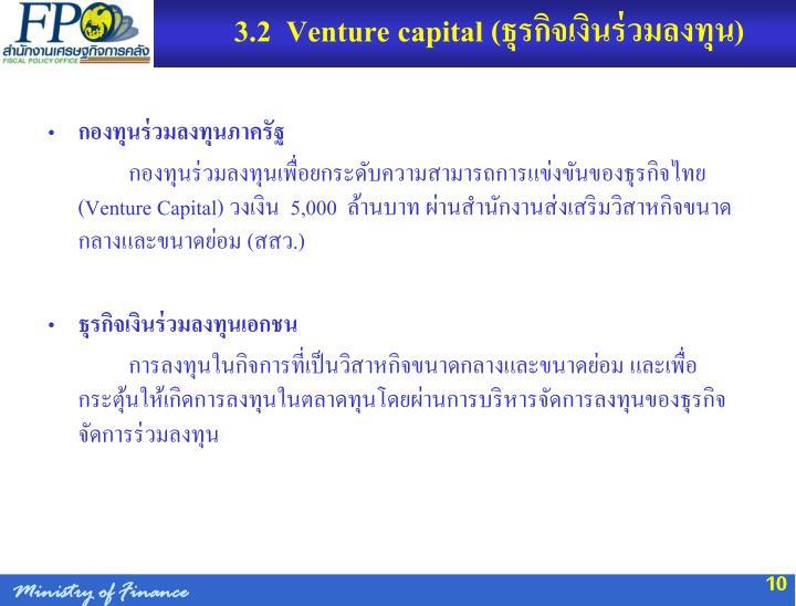 3.2  Venture capital