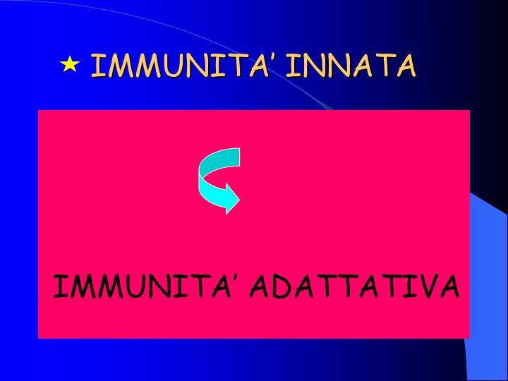 IMMUNITA' INNATA