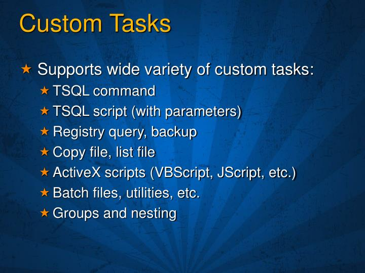 Custom Tasks