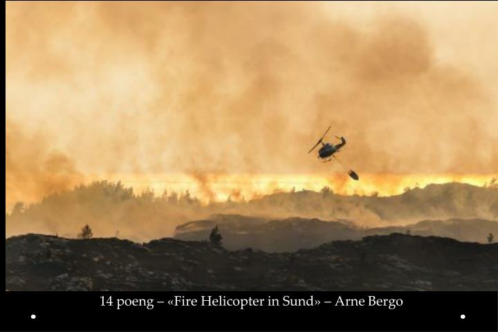 14 poeng – «Fire Helicopter in Sund» – Arne Bergo