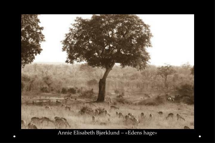 Annie Elisabeth Bjørklund – «Edens hage»