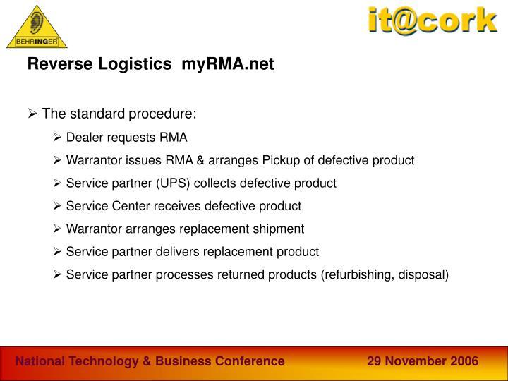 Reverse Logistics  myRMA.net