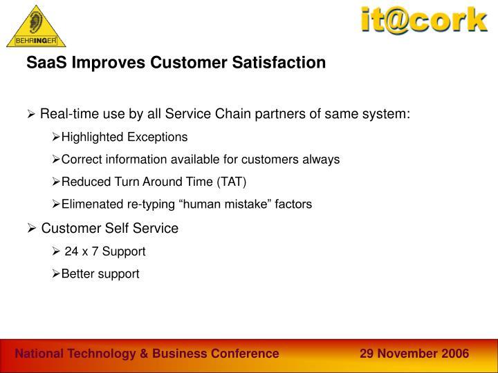 SaaS Improves Customer Satisfaction