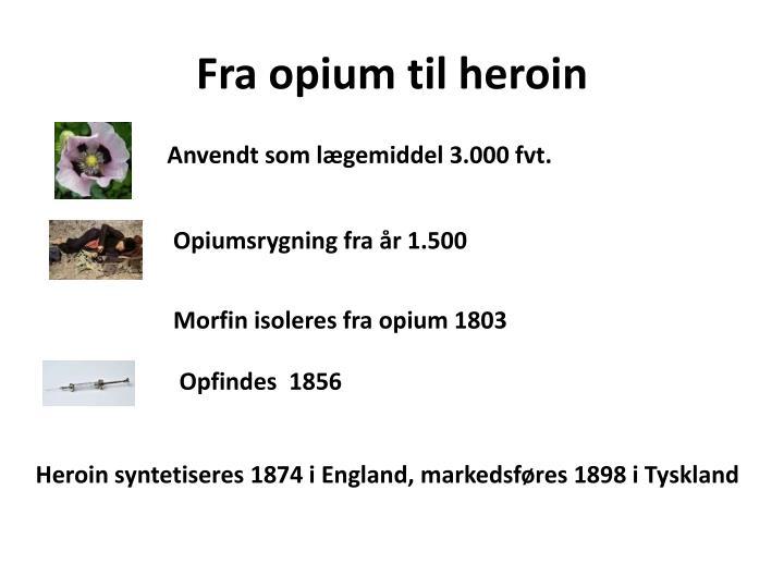 Fra opium til heroin