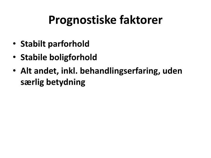 Prognostiske faktorer