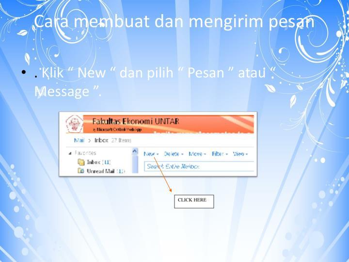 Cara membuat dan mengirim pesan