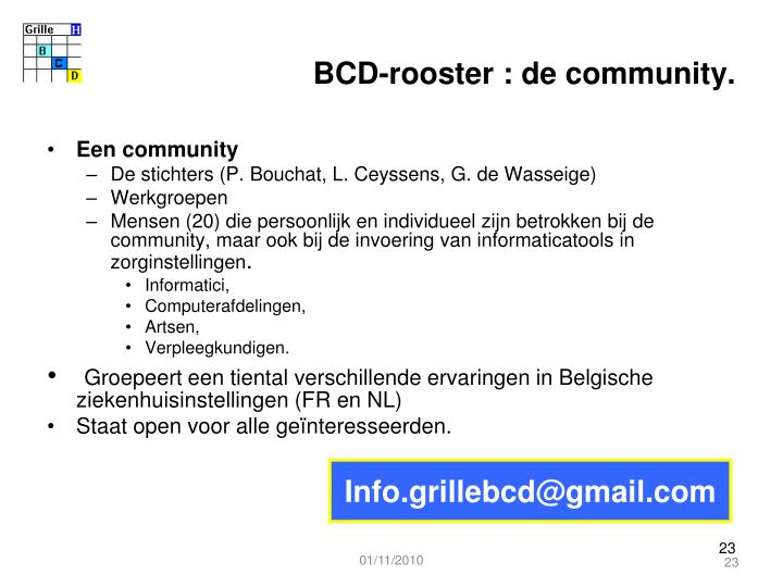 BCD-rooster : de community.