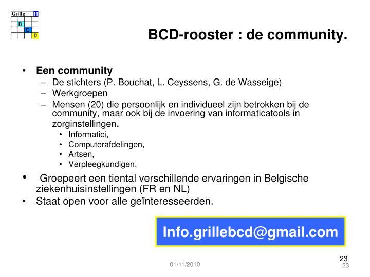 BCD-rooster : de community.