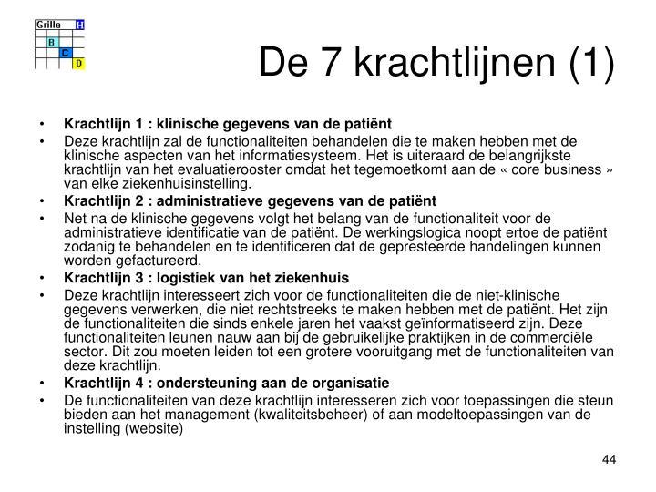 De 7 krachtlijnen (1)