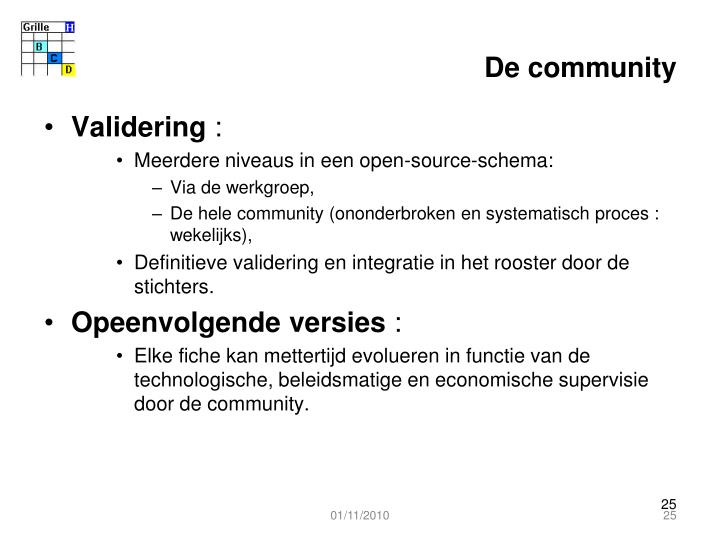 De community