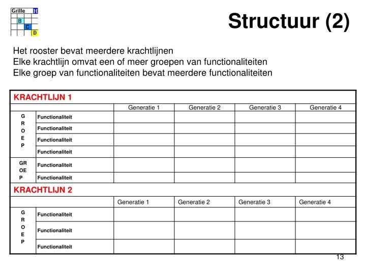 Structuur (2)