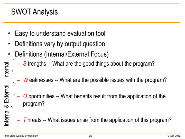 Easy to understand evaluation tool