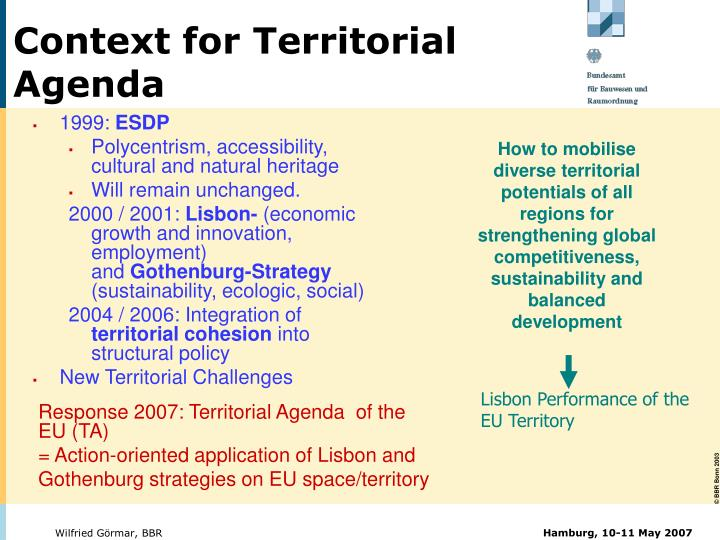 Context for Territorial Agenda