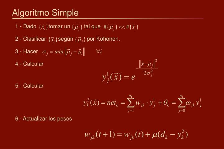 Algoritmo Simple