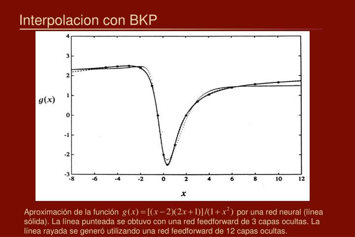 Interpolacion con BKP