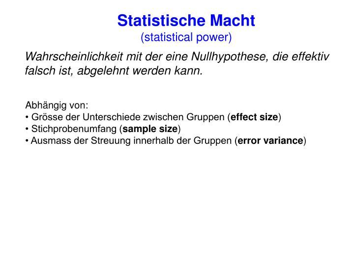 Statistische Macht