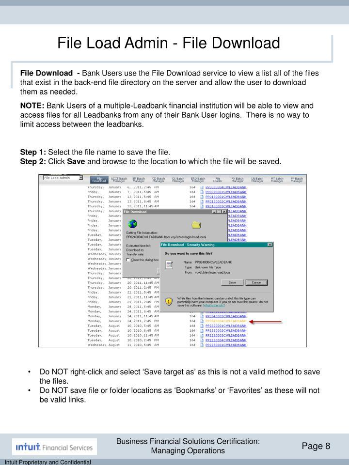 File Load Admin