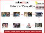 nature of escalation