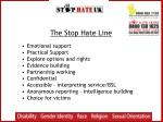the stop hate line