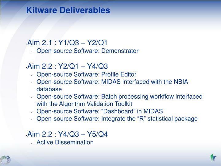 Kitware Deliverables