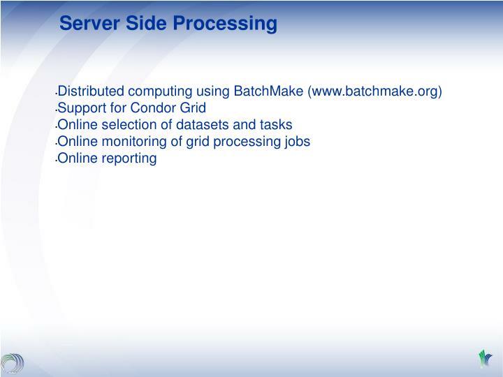 Server Side Processing