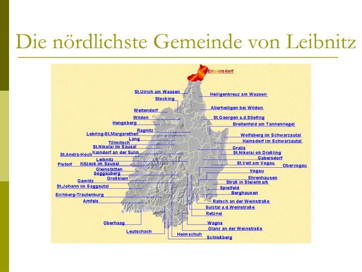 Die nördlichste Gemeinde von Leibnitz