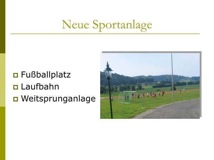 Neue Sportanlage