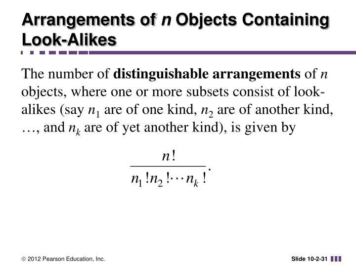 Arrangements of