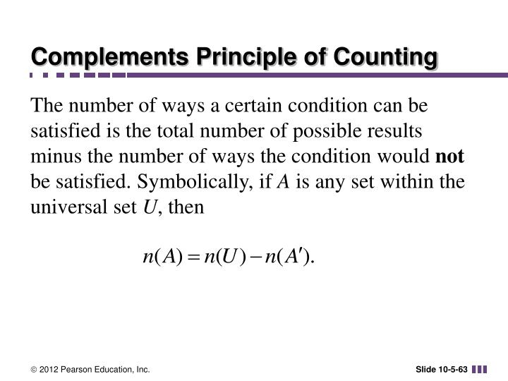 Complements Principle of Counting