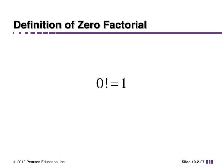 Definition of Zero Factorial