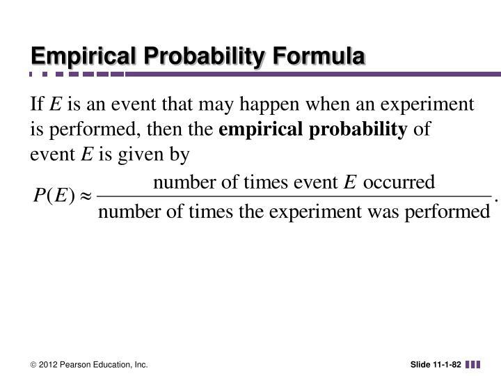 Empirical Probability Formula
