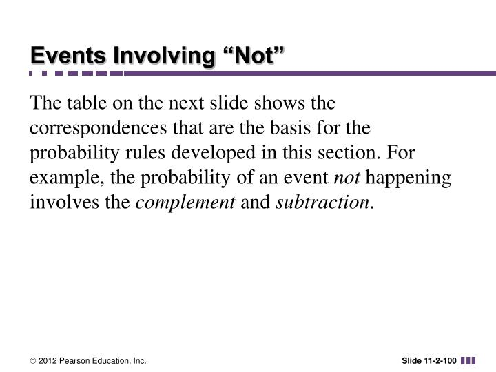 """Events Involving """"Not"""""""