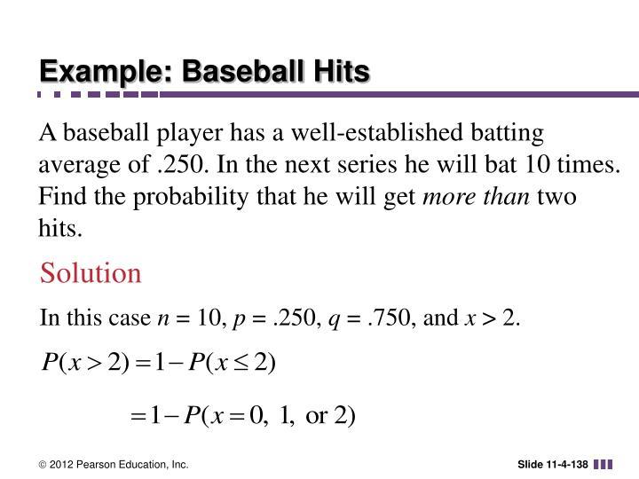 Example: Baseball Hits