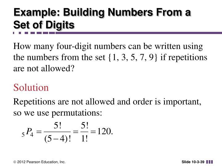 Example: Building Numbers From a Set of Digits