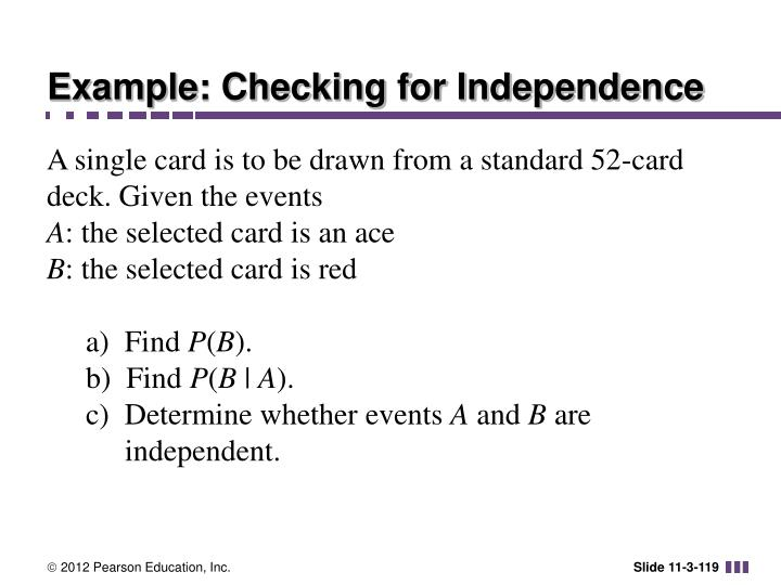 Example: Checking for Independence