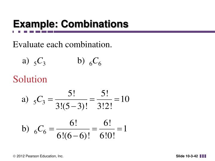 Example: Combinations