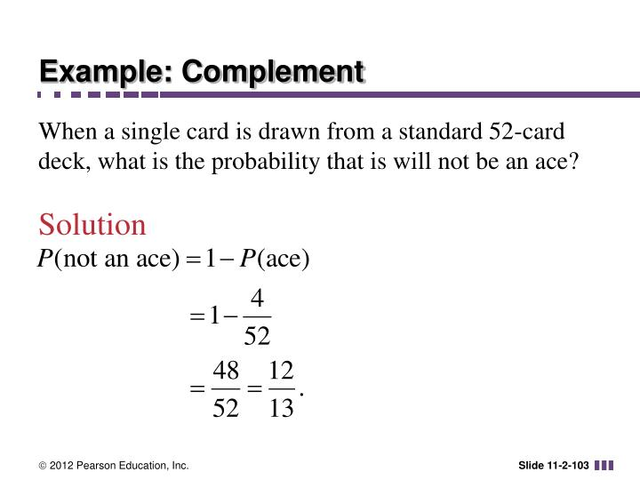 Example: Complement