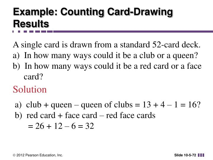 Example: Counting Card-Drawing Results