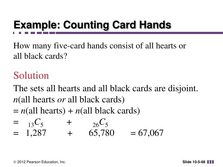 Example: Counting Card Hands