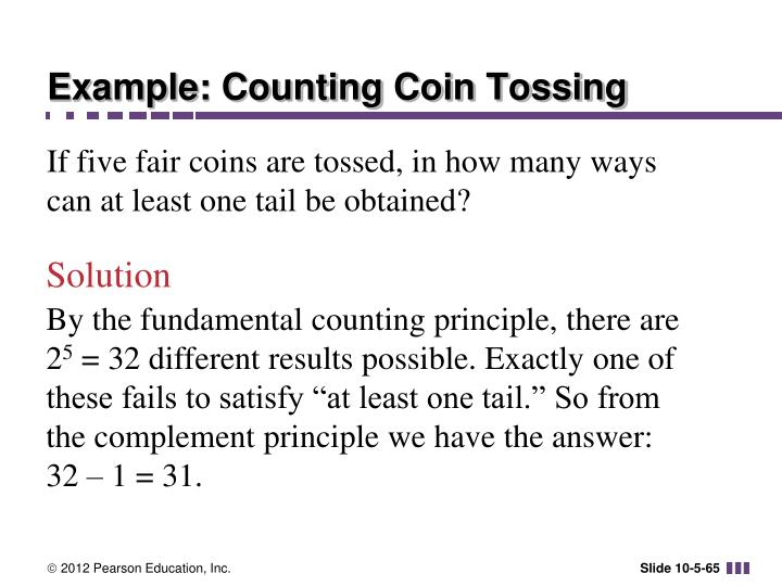 Example: Counting Coin Tossing